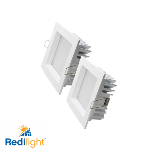6 watt LED recessed square lights for Redilight solar skylight alternative