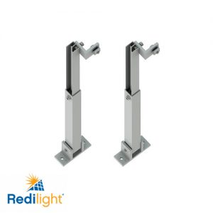 Adjustable tilt kit for Redilight solar panels on low pitched roofs
