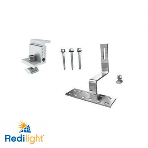 Cyclone rated solar panel mounting brackets for Redilight solar powered lighting solution