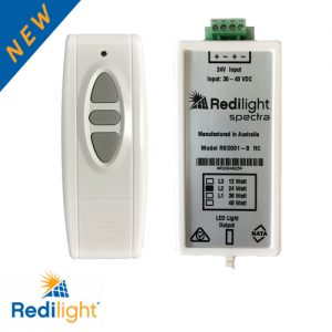 Smart remote control handset for solar powered LED lights