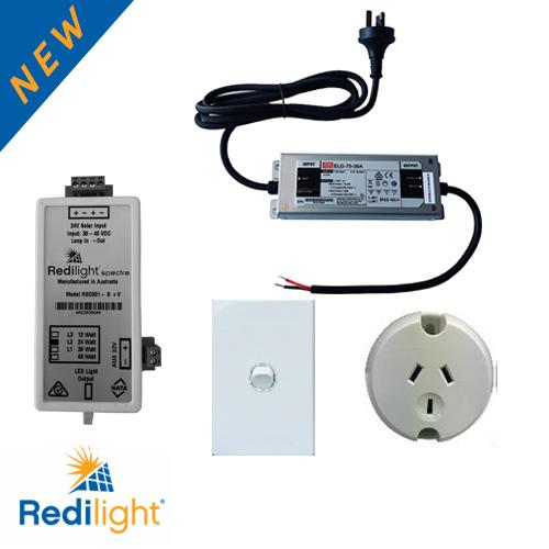 Redilight Sunline kit for smart solar LED lighting alternative