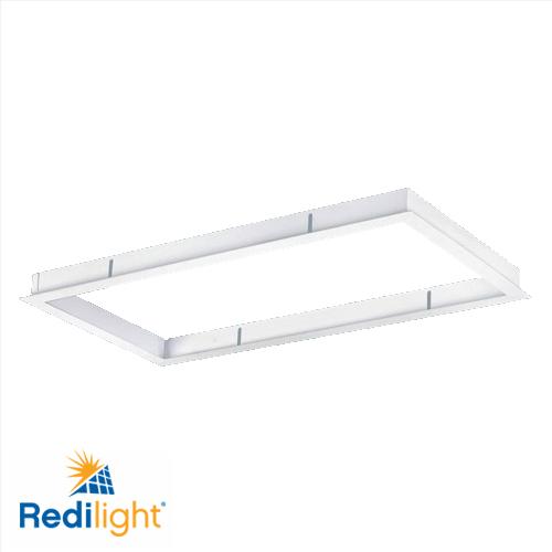 Recessed mounting frame for 48 watt led light