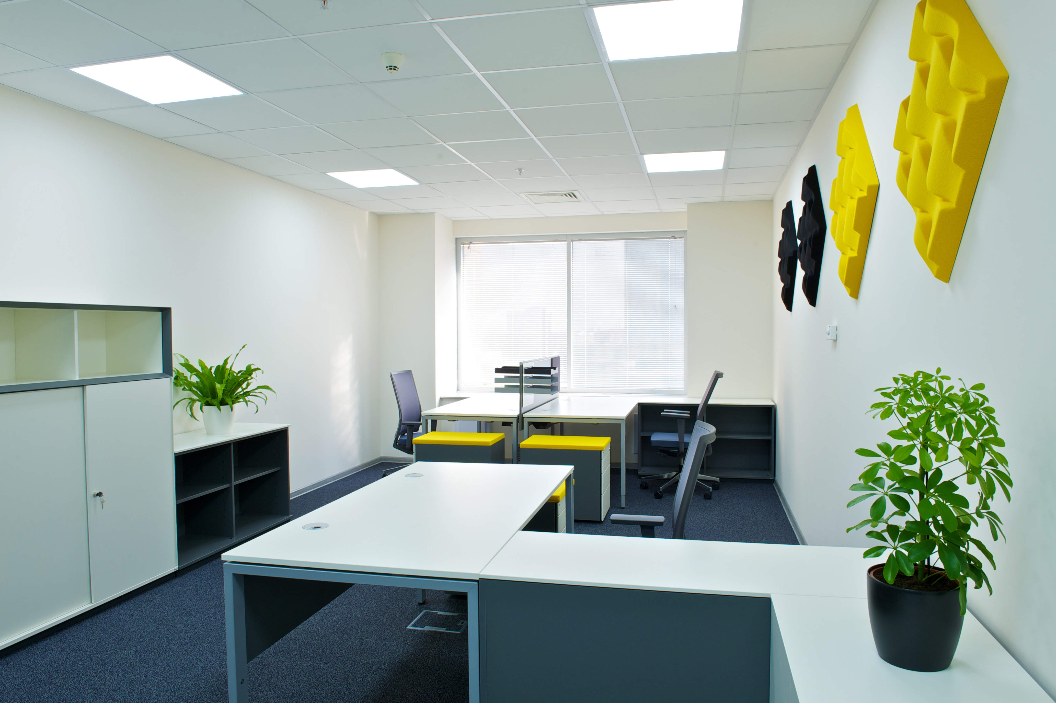 48 watt square LED lighting for offices with Redilight solar powered lighting solution
