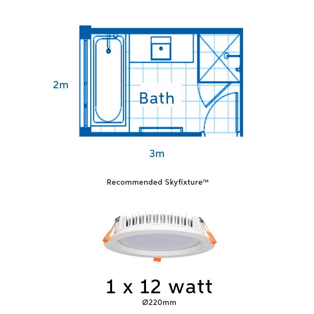 12 watt light fitting for bathrooms