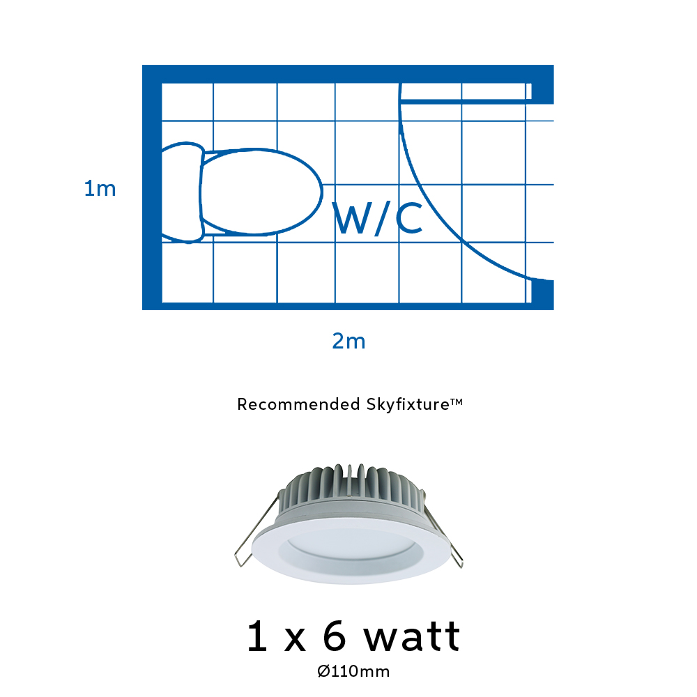 6 watt led light for bathroom or toilet or water closet